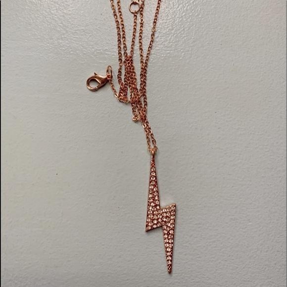 rose gold lightning necklace